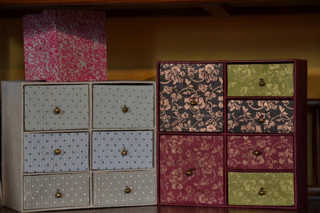 Cassettini in carta naturale fatta a mano