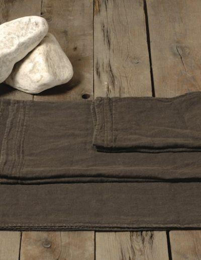 set asciugamani colore fango