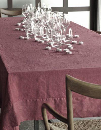 tovaglia colore legno di rosa