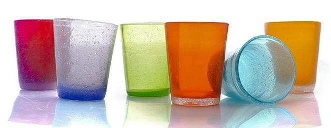 Bicchieri in pasta di vetro les voyageurs for Bicchieri colorati vetro