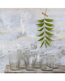 Set bicchieri vetro riciclato