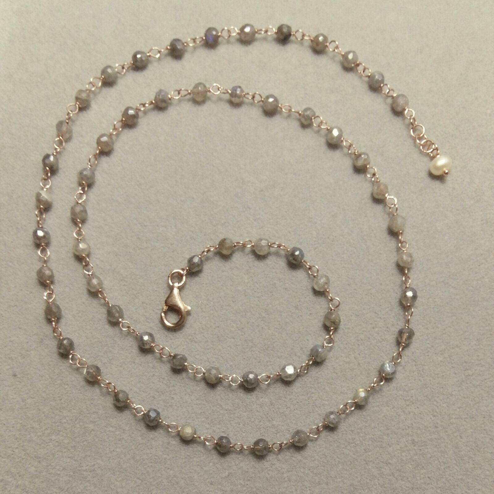 collana concatenata pietre Orecchini pendenti pietre semi preziose
