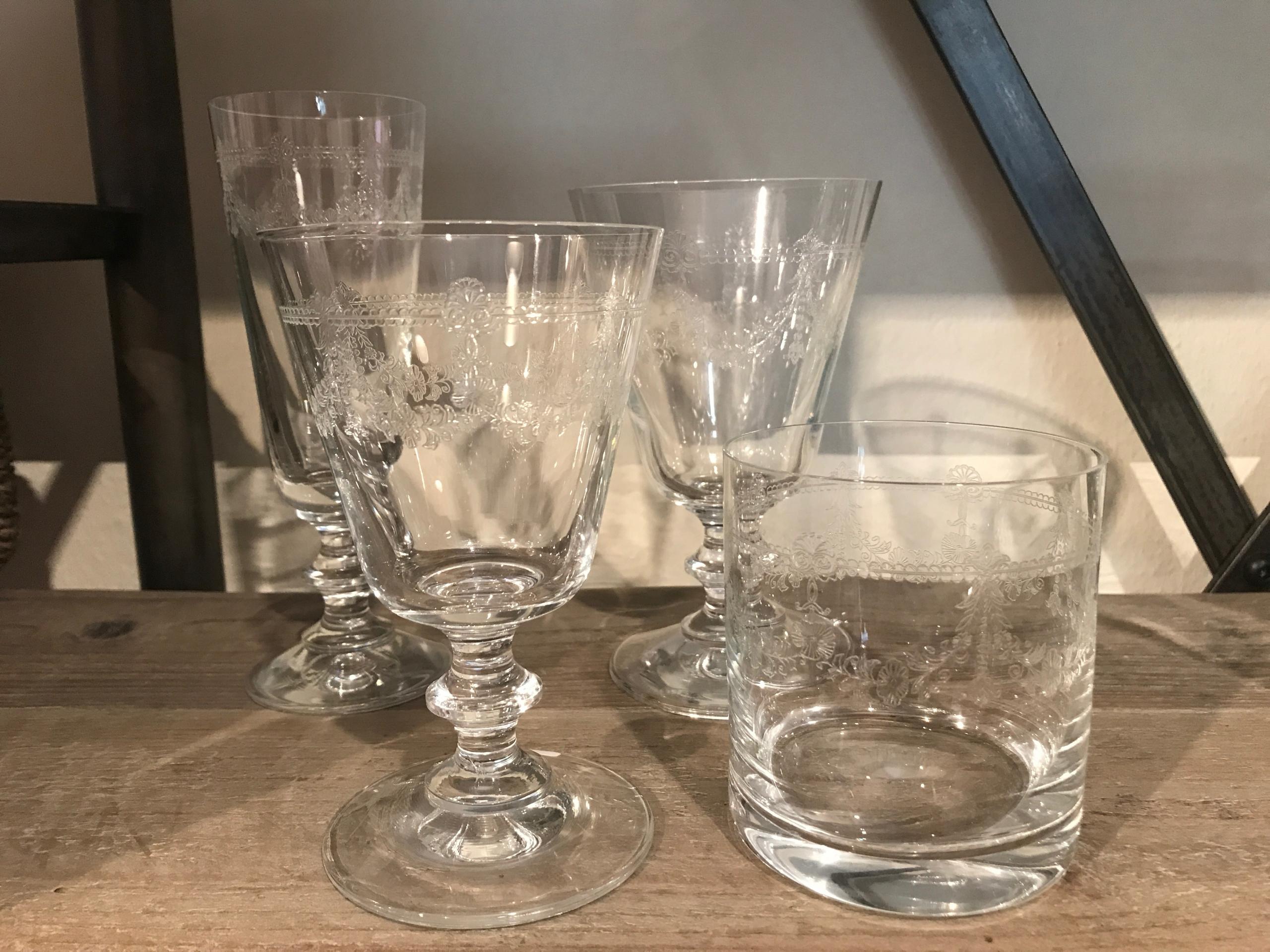 Bicchieri vetro decorati