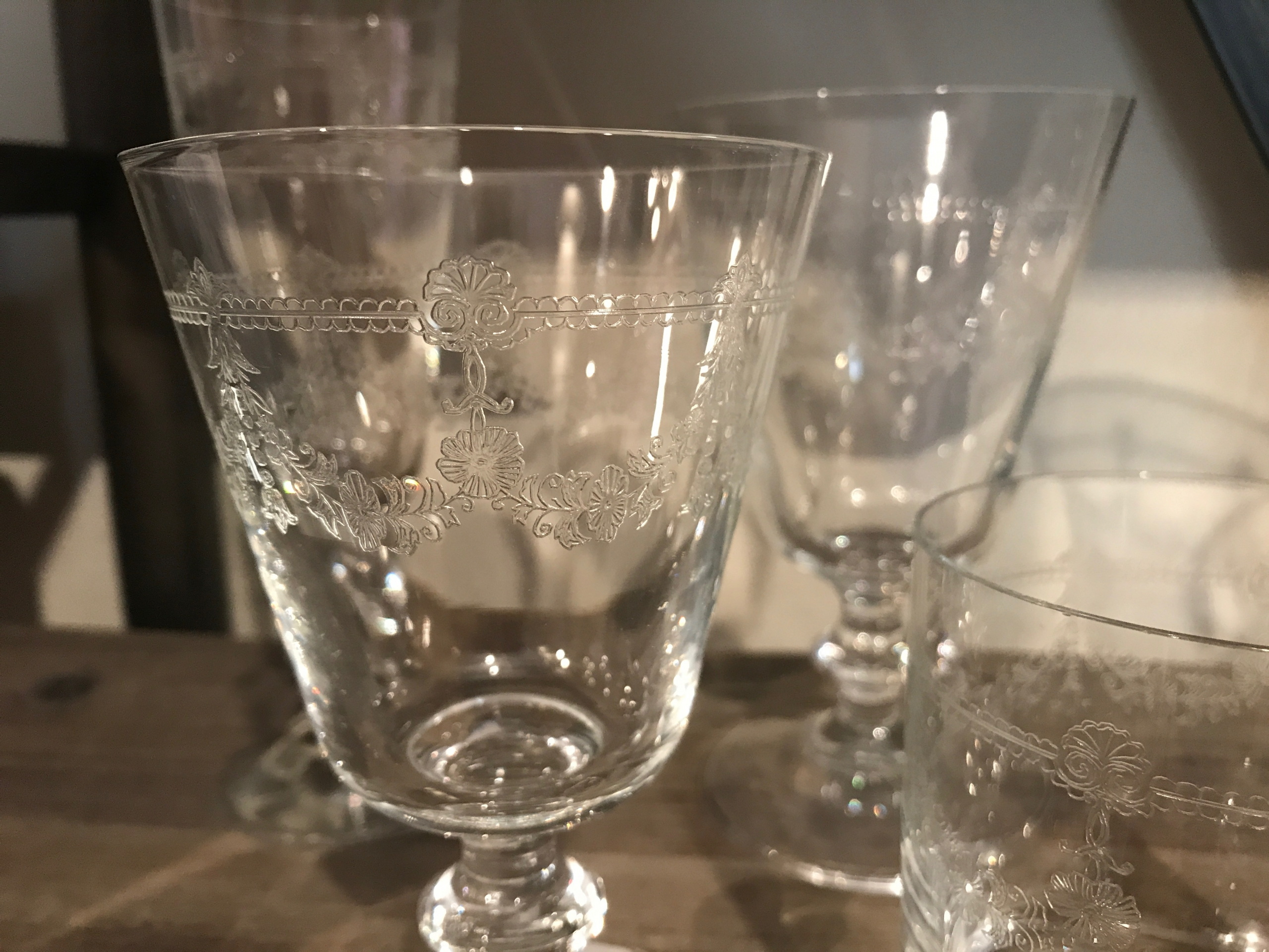 Bicchieri vetro decorati les voyageurs - Bicchieri decorati per natale ...