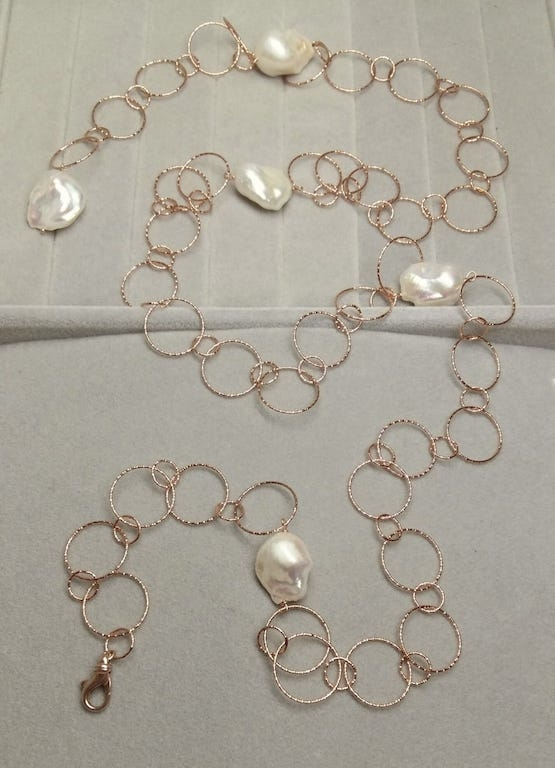 Collana con perle d'acqua dolce