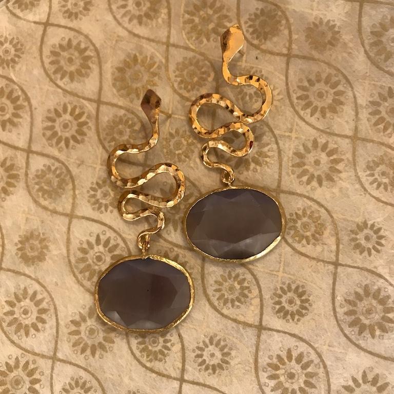 orecchini filigrana e cristalli