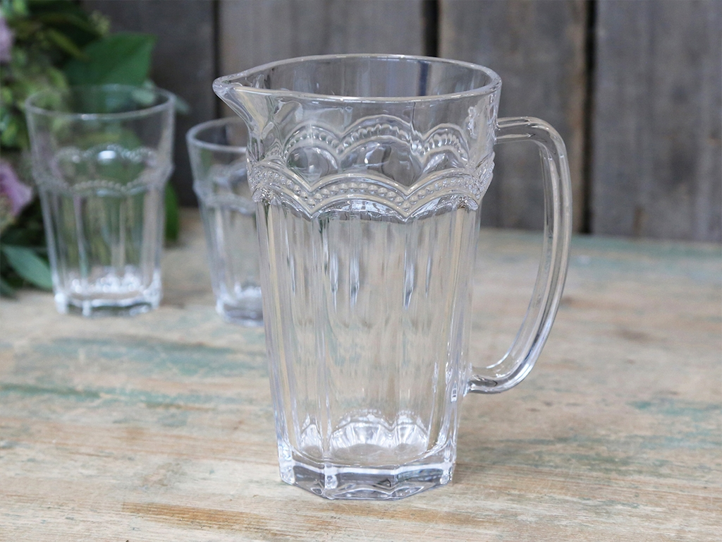 Brocca vetro decorata