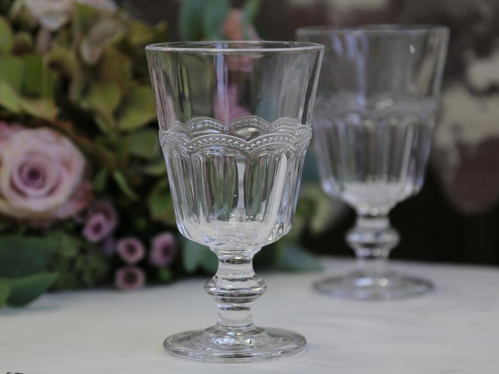 Set bicchieri vetro decorati