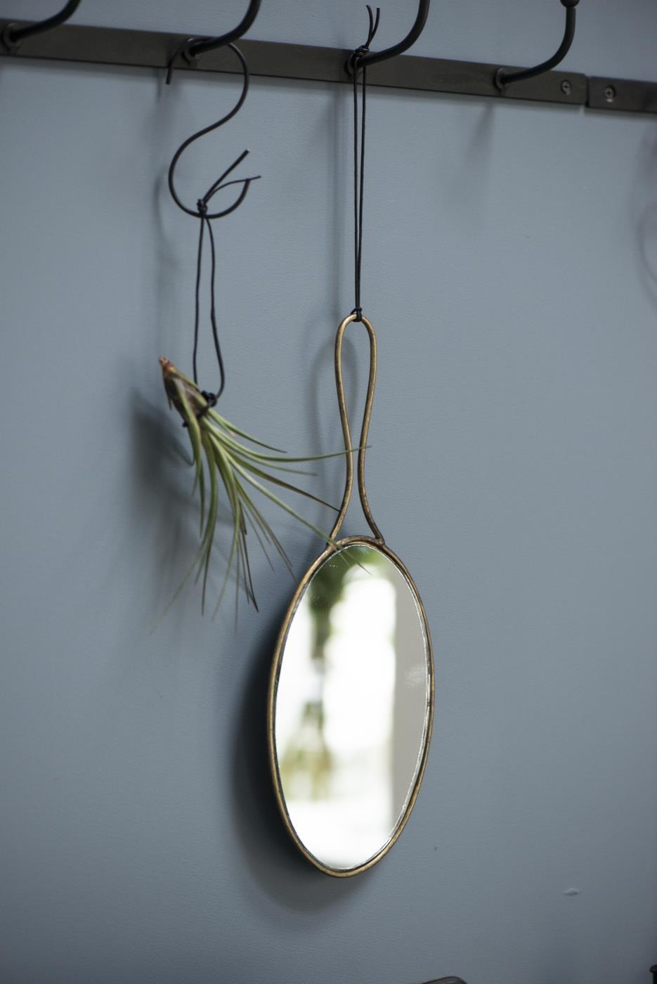 specchio in ottone