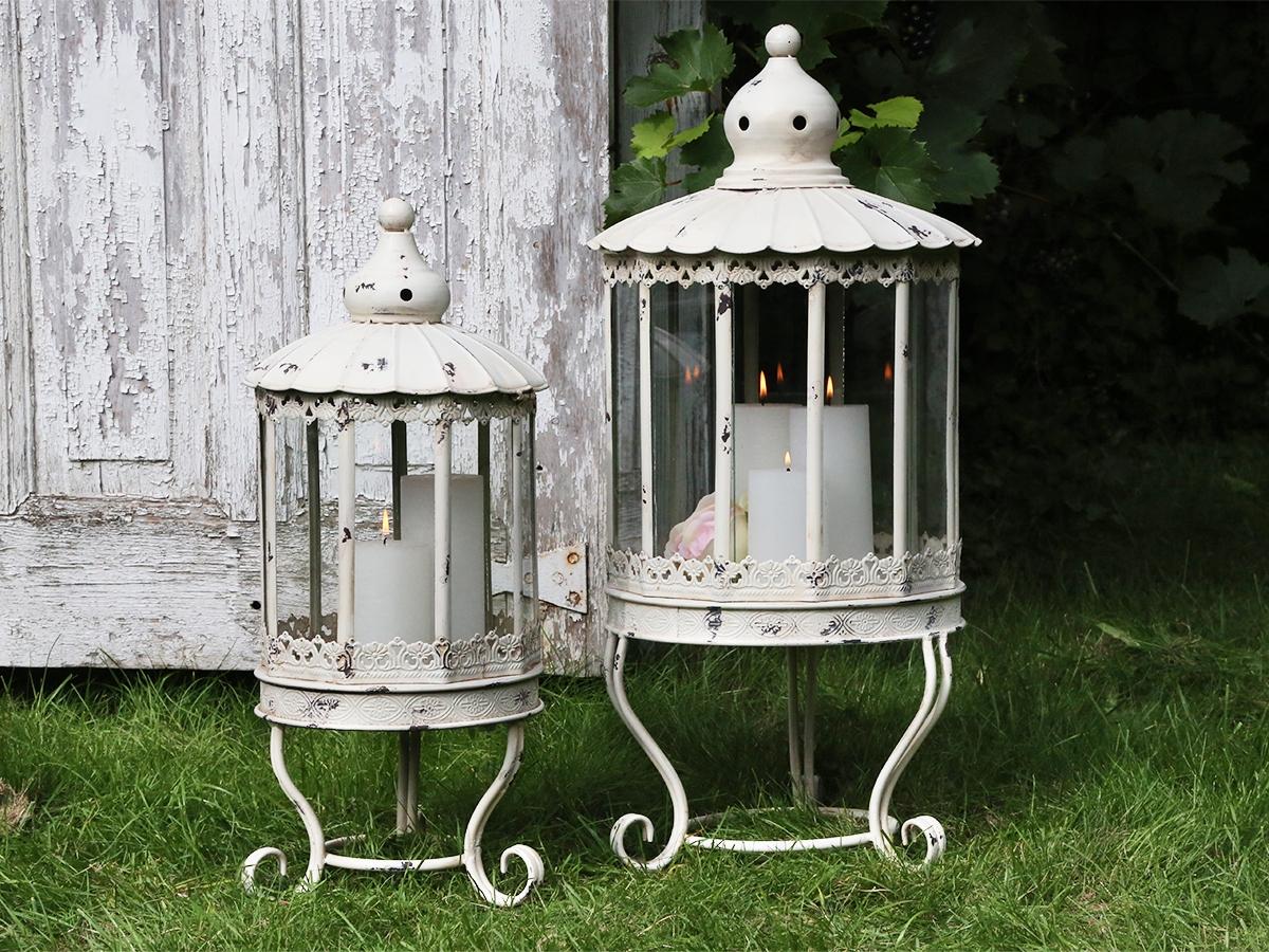 Lanterna metallo bianco shabby