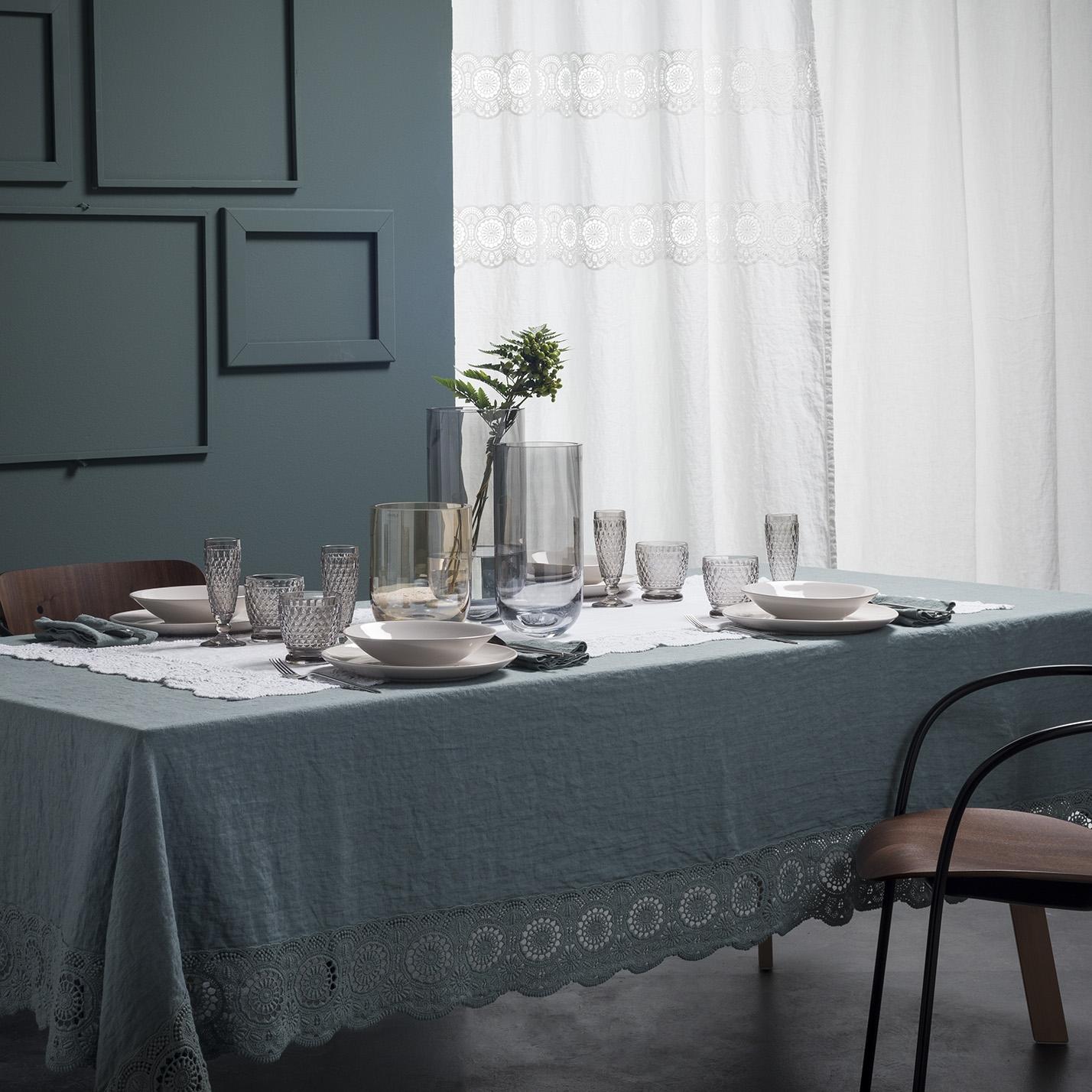 lino tavola, tovaglie, set da tavola, runner, grembiuli