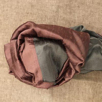 Stole bicolore in shantung di seta