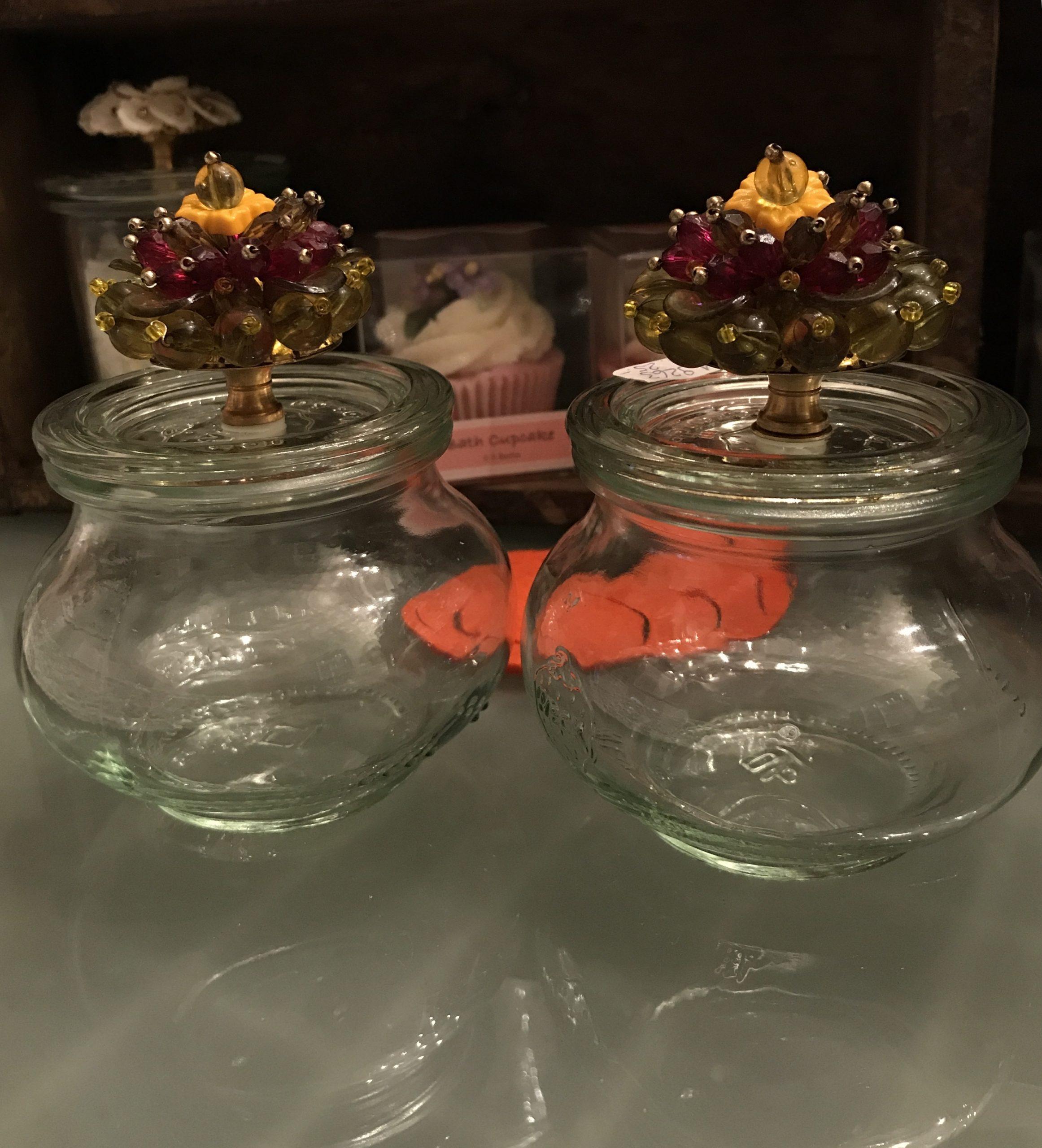 vasetti vetro riciclato con sali da bagno