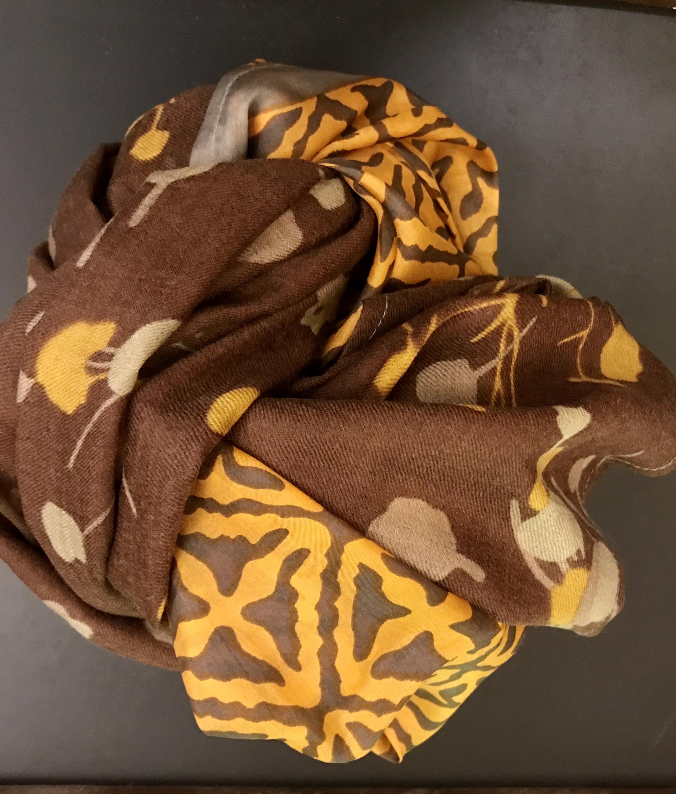 sciarpa in lana e seta