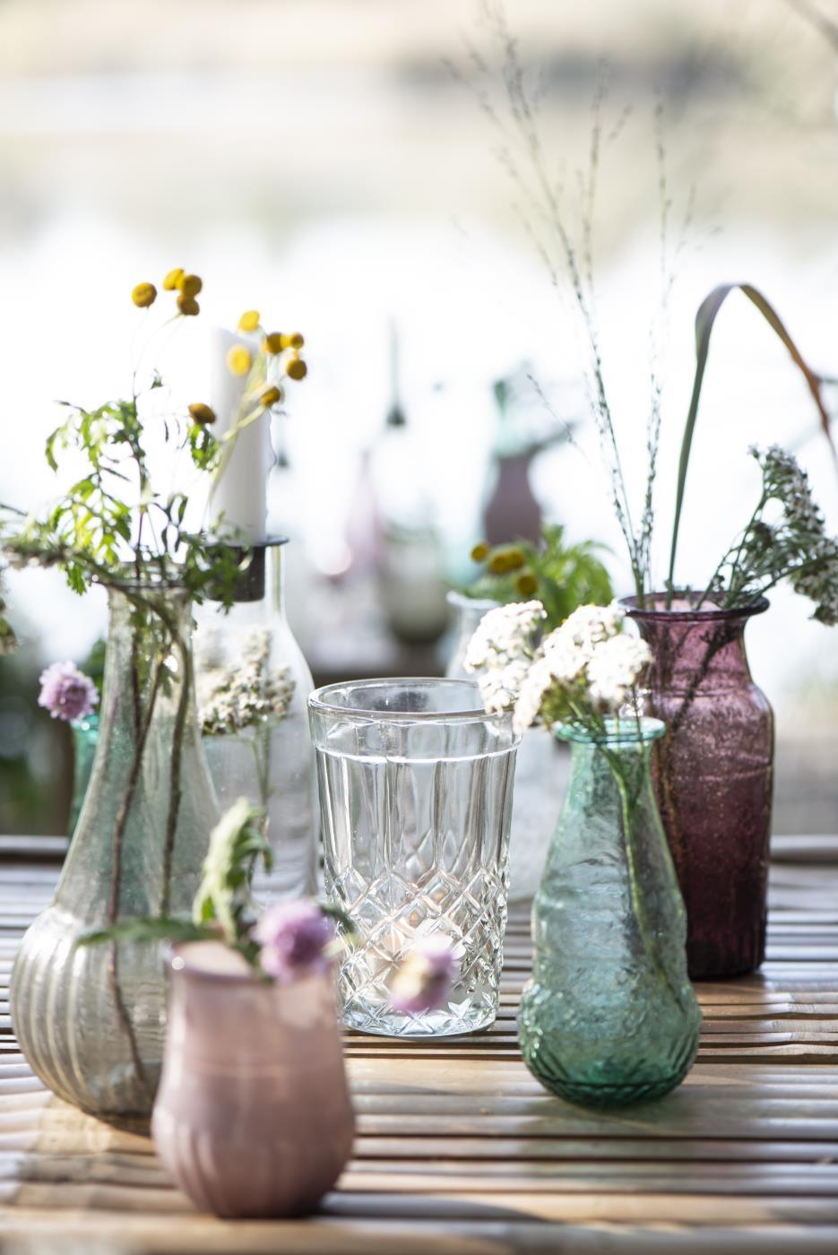 Vasetti in vetro riciclato
