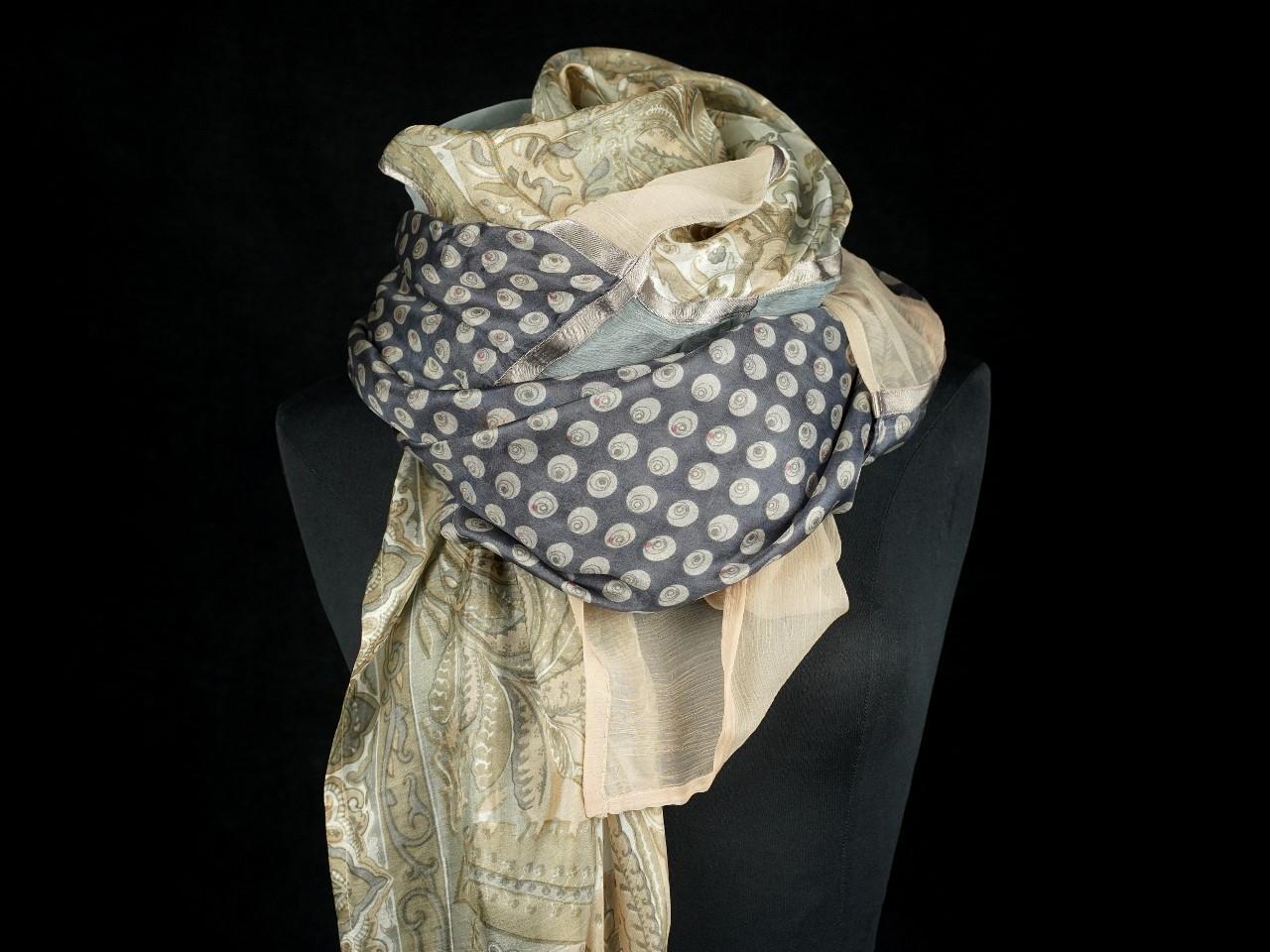 Sciarpa lana seta e cotone