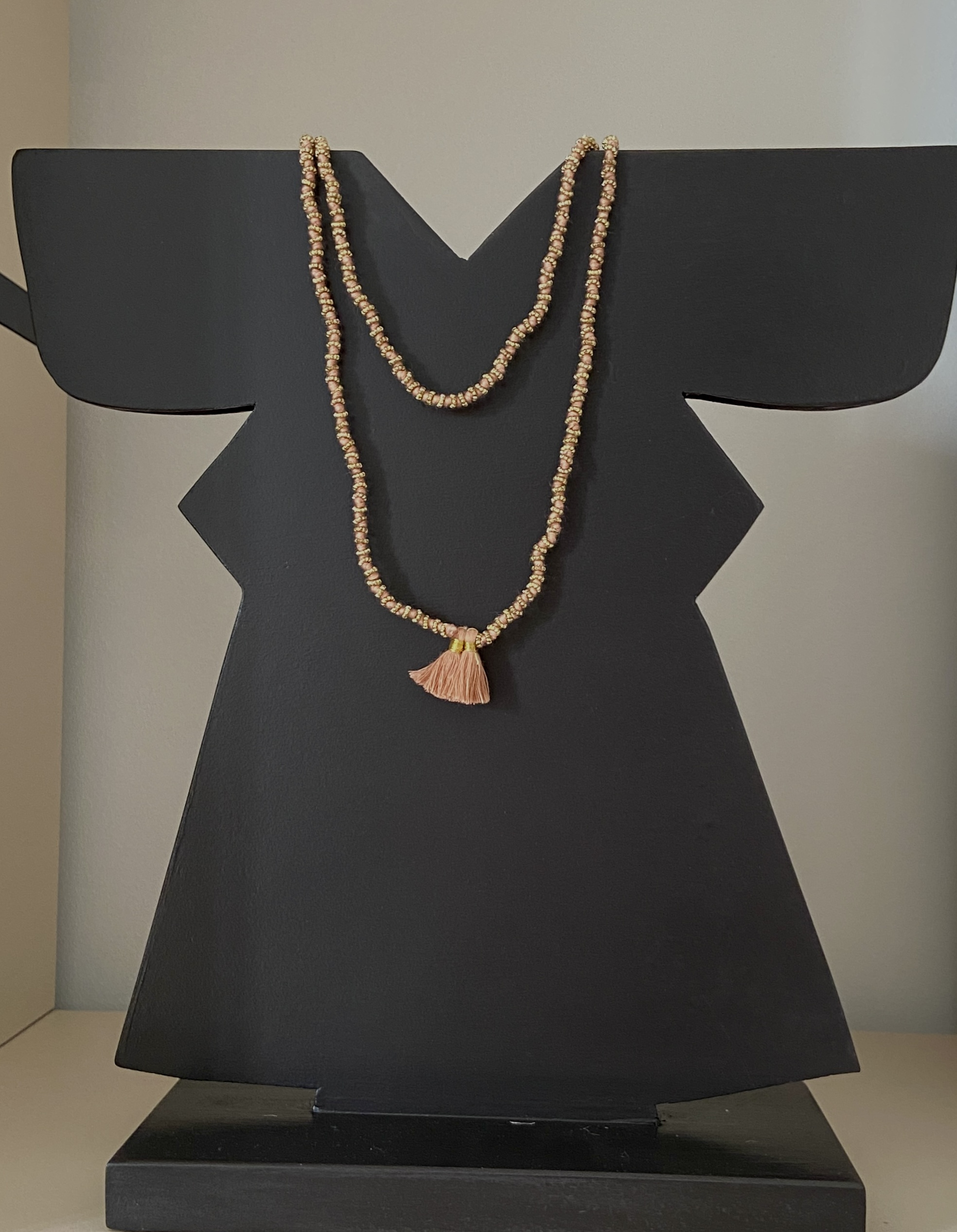 collana seta e ottone