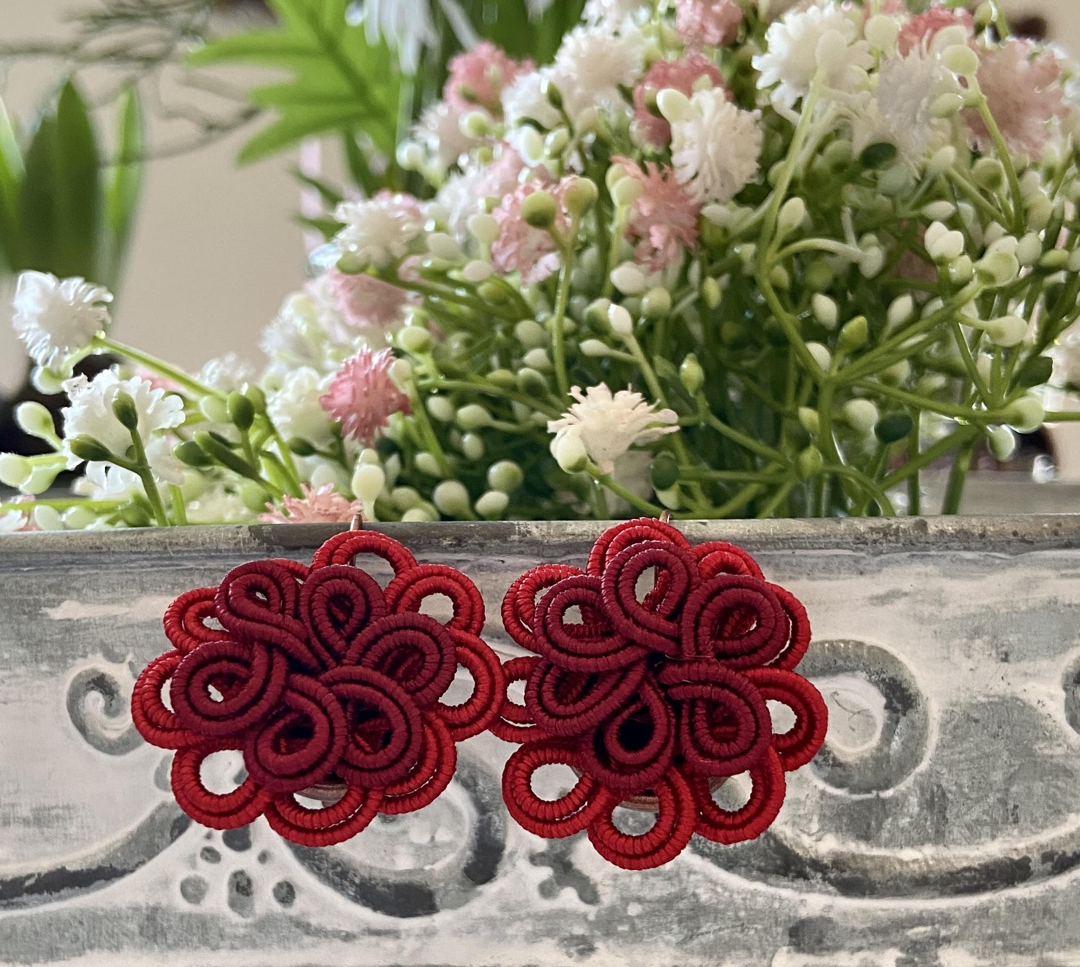 orecchini fiore in sabra