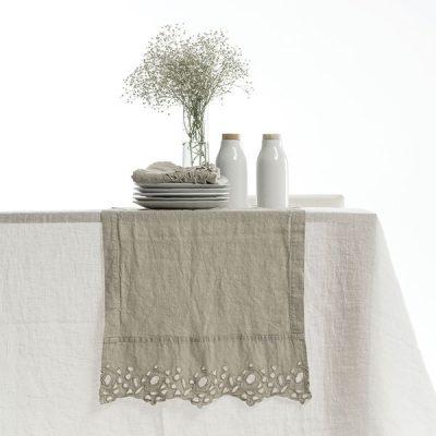 Il lino naturale, pratico e non si stira. La tavola.